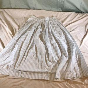 Georges Marciano GUESS Skirt Blue White Striped